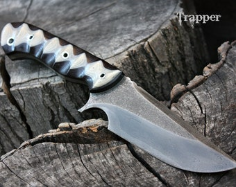 """Handcrafted FOF """"Trapper"""", survival, and hunting blade"""