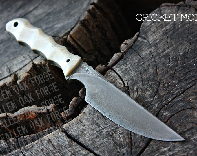 "Handmade FOF ""Cricket mod"" work, hunting, edc and survival knife"