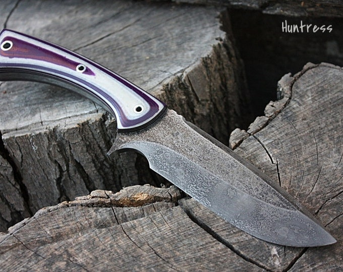 "Handcrafted FOF ""Huntress II"", survival, hunting or tactical knife"