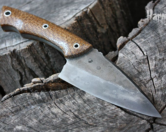 "Handcrafted FOF ""Harpy"", survival, hunting or tactical knife"