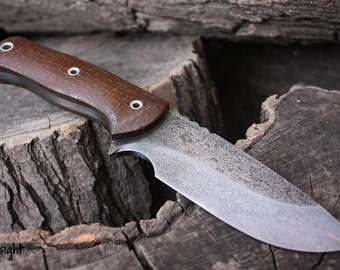 """Handmade knife FOF """"Hindsight"""" work, hunting and survival blade"""