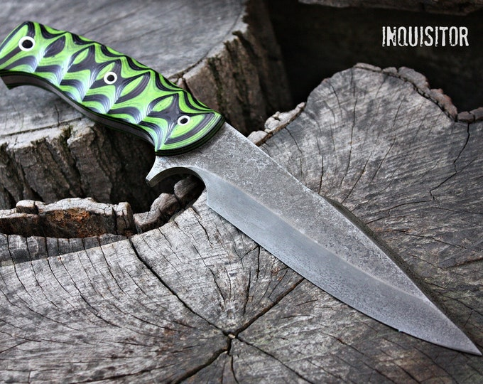 "Handcrafted FOF ""Inquisitor"" Custom Full Tang tactical knife"
