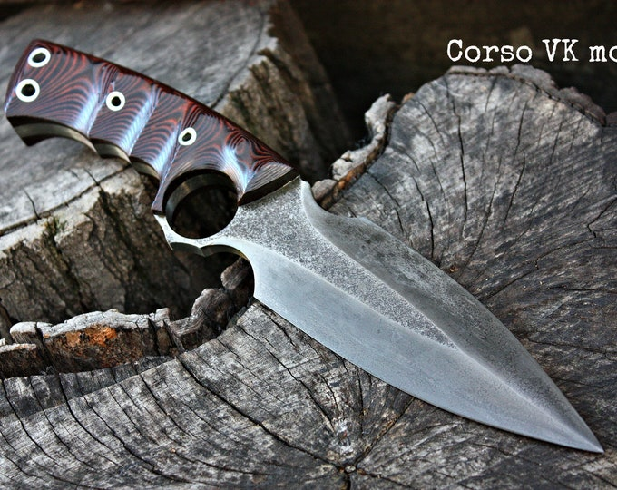 "Handcrafted knife FOF ""Corso VK mod"" tactical full tang survival blade"