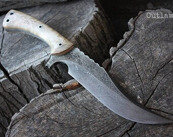 "Handcrafted blade FOF ""Outlaw"" full tang modern bowie knife"