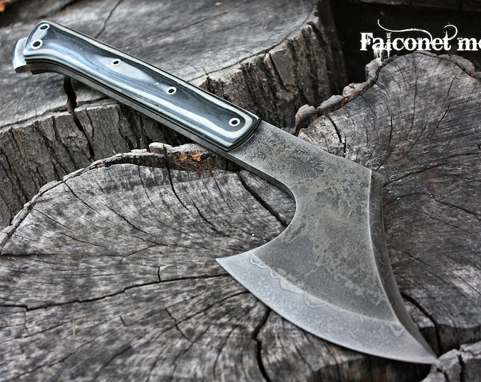 "Handcrafted FOF ""Falconet mod"" full tang tactical and survival axe"