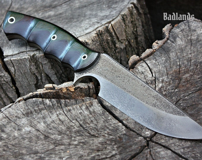 "Handcrafted FOF ""Badlands"", survival, hunting or tactical knife"