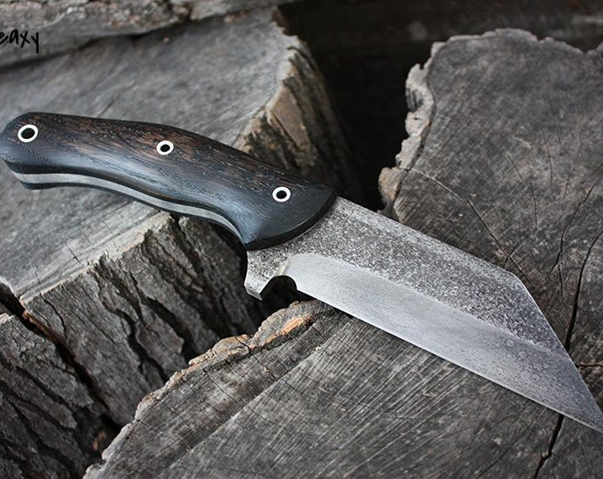 """Handmade FOF """"Seaxy"""" working, hunting and survival knife"""