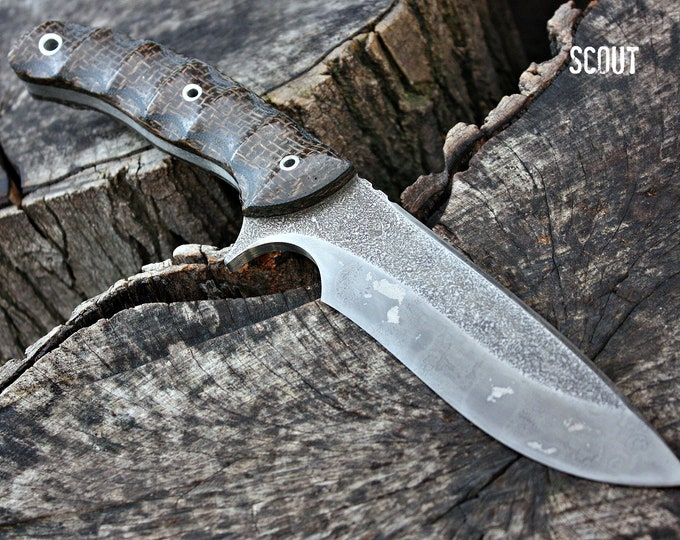 """Handcrafted FOF """"Scout"""", survival, hunting or tactical knife"""