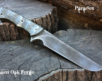 """Handcrafted FOF """"Paradox"""" full tang tactical and survival blade."""