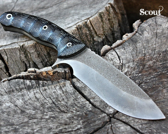 "Handcrafted FOF ""Scout"", survival, hunting or tactical knife"