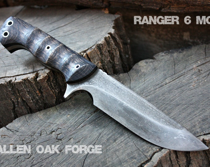 "Handcrafted FOF ""Ranger 6 mod"", survival, hunting or tactical knife"