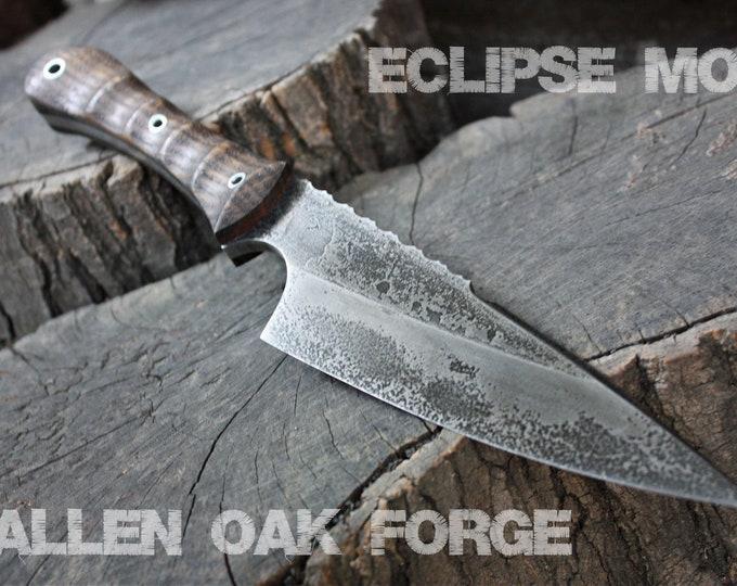 "Handcrafted Fallen Oak Forge FOF ""Eclipse mod"", fulltang everyday knife"