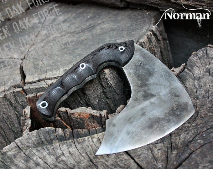 """Handcrafted FOF """"Norman"""" full tang tactical and survival axe"""