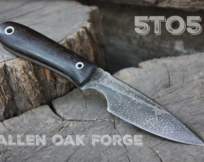 """Handmade Fallen Oak Forge FOF """"5to5"""" work, hunting, edc and survival knife"""