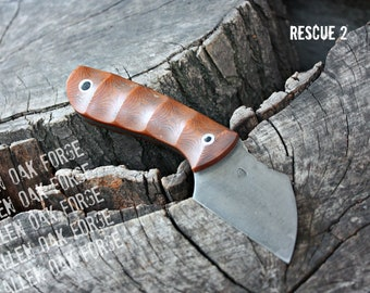 """Handmade FOF """"Rescue 2"""" working, hunting and survival knife"""