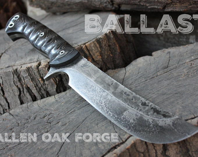 """Handcrafted Fallen Oak Forge FOF """"Ballast"""", survival, hunting or tactical knife"""