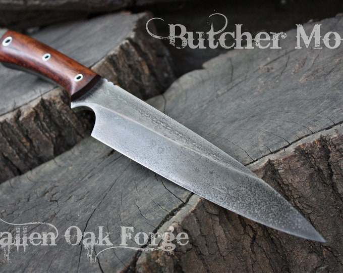 """Handcrafted blade FOF """"Butcher mod"""" full tang survival and camp blade"""