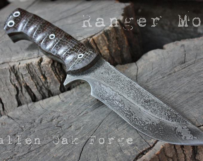 "Handcrafted Fallen Oak Forge FOF ""Ranger mod"", survival, hunting or tactical knife"