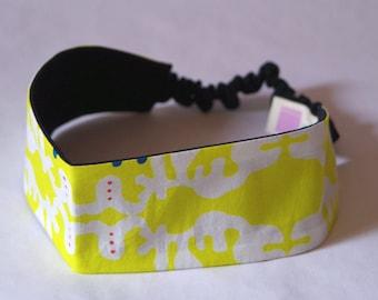 SALE !! Headband, yellow, white