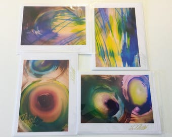 Modern Fusion - Silk Art Photography Cards           by Loba C. Chudak