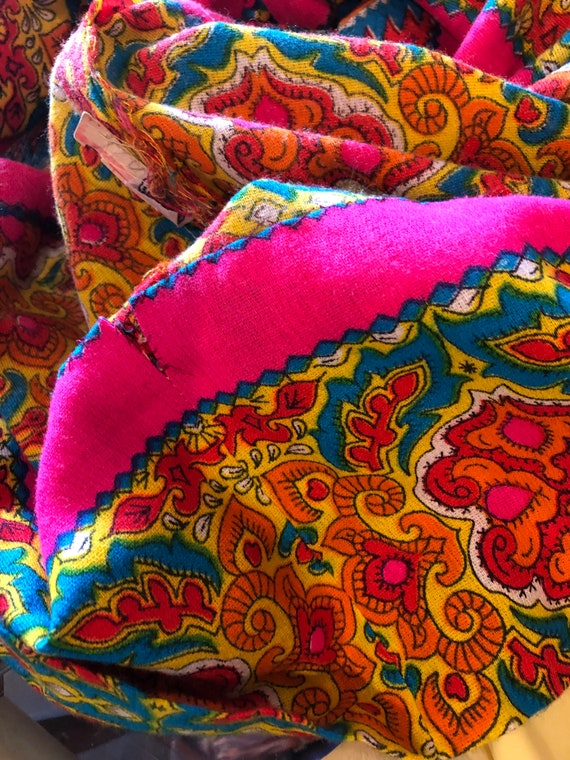 1960s Gypsy Dress Paisley Print Bells Bishop Slee… - image 10