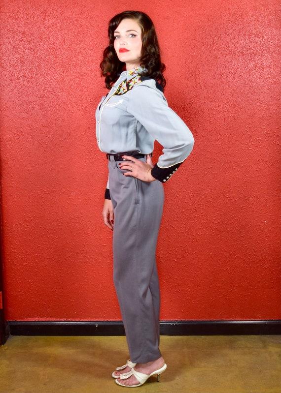 1950s H Bar C Gray Gabardine Western Pants - image 5