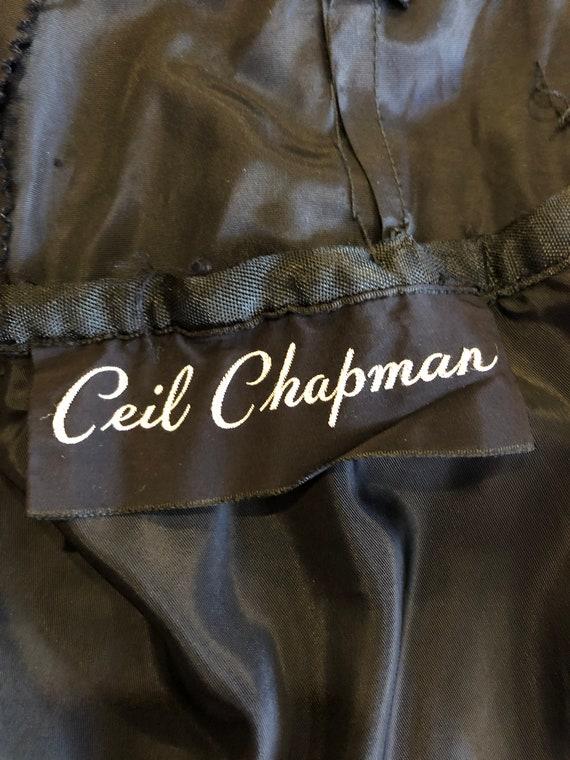 1950s Ceil Chapman Designer Jersey Draped Dress - image 10