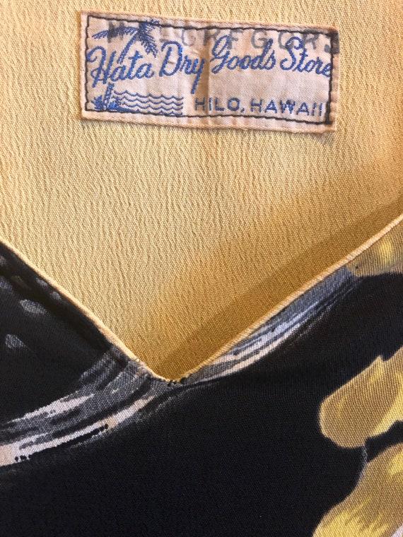 1940s 50s Black Pake Muu Hata Dry Goods - image 6