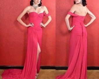Vintage Donna Karan Designer Gown Sample Dress