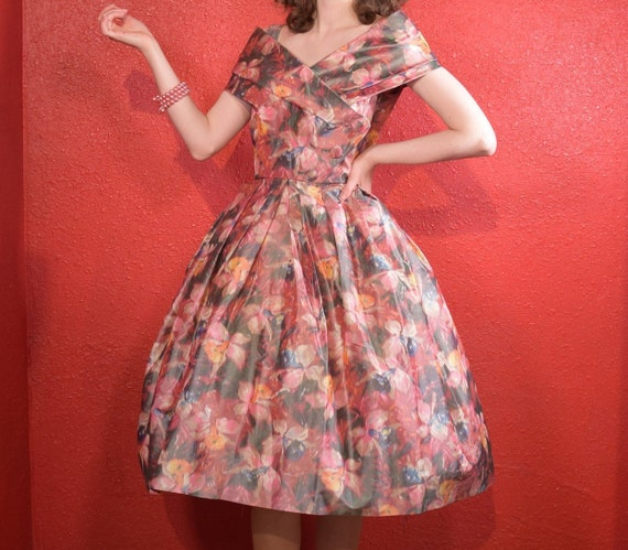 1950s Suzy Perette Designer Fit and Flare Dress - image 3
