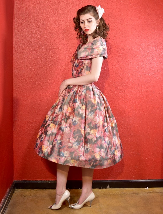 1950s Suzy Perette Designer Fit and Flare Dress - image 4