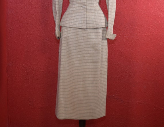 1950s Lilli Ann Suit Ivory Imported Fabric - image 4