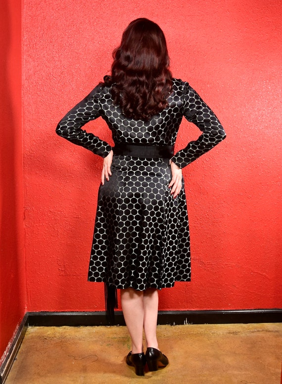 1920s Black Dot Silk Shift Chemise Dress - image 2