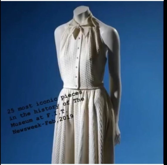 Rare Claire McCardell 1950s White Dress Two Piece - image 10