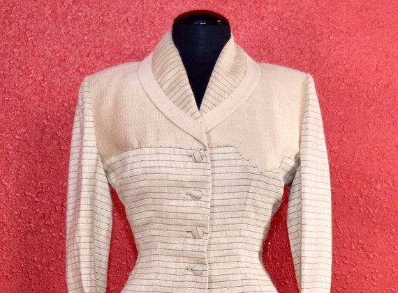 1950s Lilli Ann Suit Ivory Imported Fabric - image 2