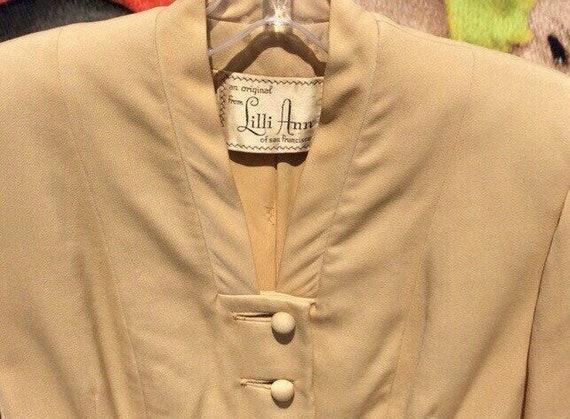 1950s Lilli Ann Golden Gabardine Ladies Suit - image 5