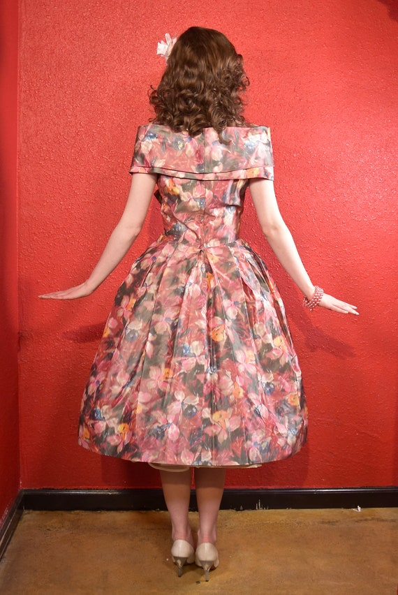 1950s Suzy Perette Designer Fit and Flare Dress - image 5