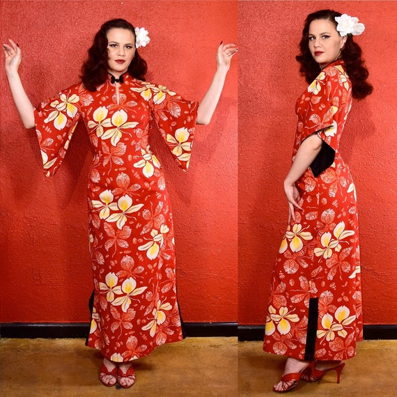 1950s Hawaiian Cotton Pake Muu