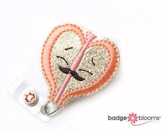 Retractable Badge Holder Animal Badge Holders Glitter Armadillo Cute Badge Reel BadgeBlooms Felt Badge Reel Cover Nurse Badge