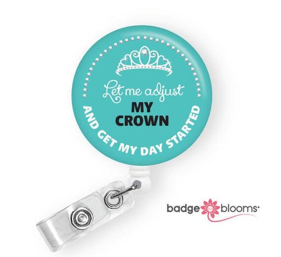 nurse queen funny badge reels cute badges work id badge etsy