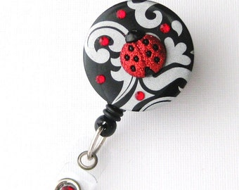 Ladybug Dazzle - Fun Retractable Badge Reel - Cute Badge Holder - Decorative Badge Reels - Pediatric RN - BadgeBlooms