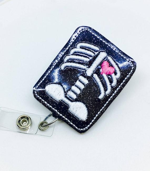 X Ray - Felt Badge Holders - Cute Badge Reels - Pediatric Retractable ID  Badge Holder - Name Badge Reel - RN Badge - BadgeBlooms