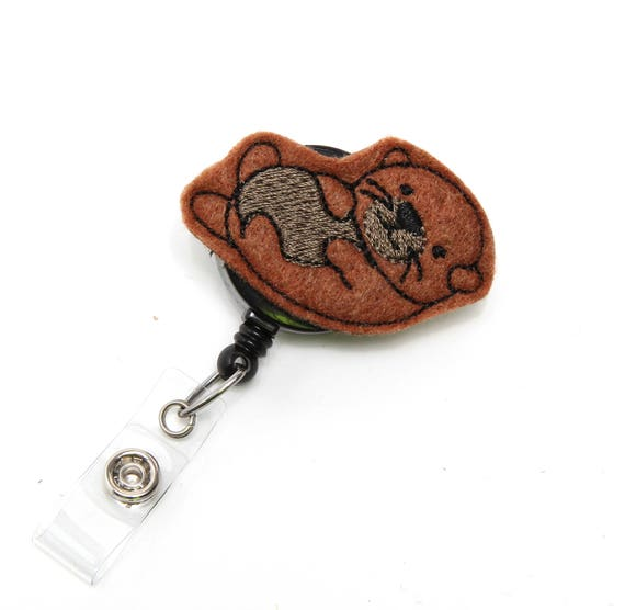 Sampson Sea Otter - Felt Badge Holder - Cute Badge Reel - Retractable Badge  Clip - Feltie Badge Pull - Unique Nurse Badge Reel - BadgeBlooms