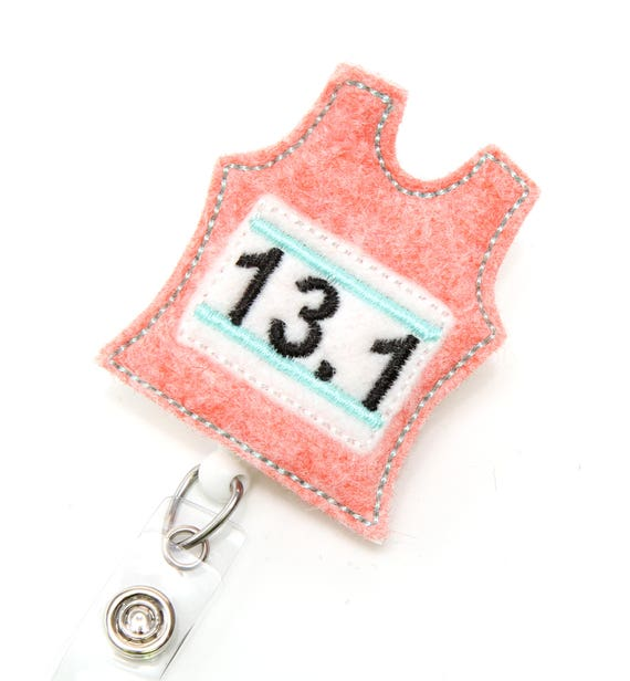 Runner Jersey - 13 1 - Felt Badge Holder - Cute Badge Reels - Retractable  ID Badge Holder - Nurse Gifts - Unique Badge Pulls - BadgeBlooms