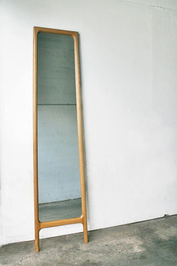 Full Length Bedroom Mirror Mid Century Hardwood Rian