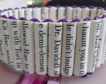 Made to order Darkest Powers Trilogy paper bead bracelet