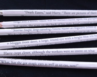 Made to order Book Page wrapped pencils