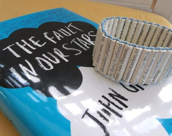 Made to order The Fault in Our Stars paper bead bracelet