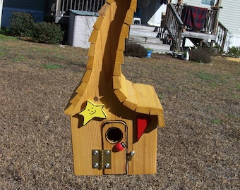 Rooster Weather Vane Cypress Birdhouse One of a Kind Gift Wood Birdhouse Rustic Cypress Barn Birdhouse Bird Lovers Gift Rustic Barn