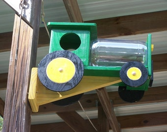 Tractor  Green and Yellow Squirrel Feeder